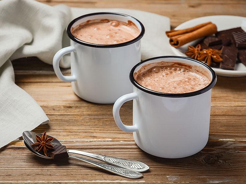 Chocolate quente para vender no inverno