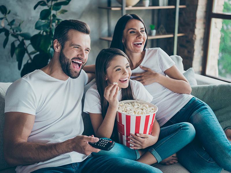 Escolha alugar filmes e curta a sua família