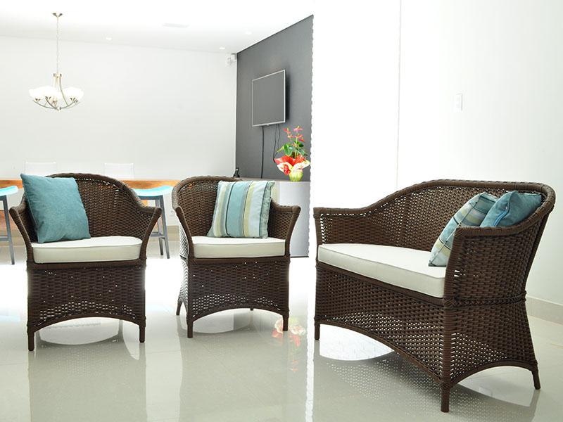 Móveis para espaços e ambientes externos