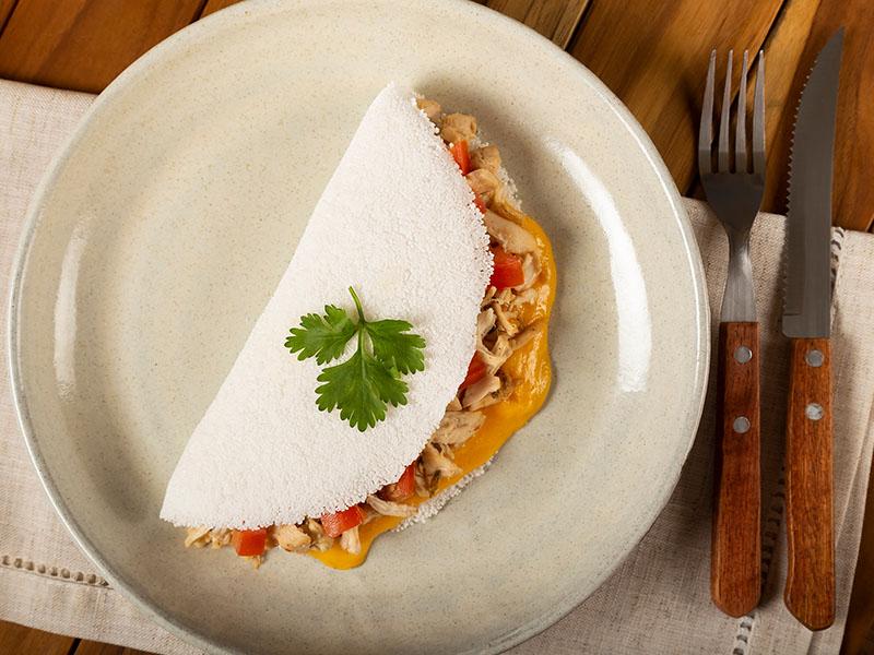 Escolha a tapioca como uma ótima companhia para ter uma alimentação saudável e barata